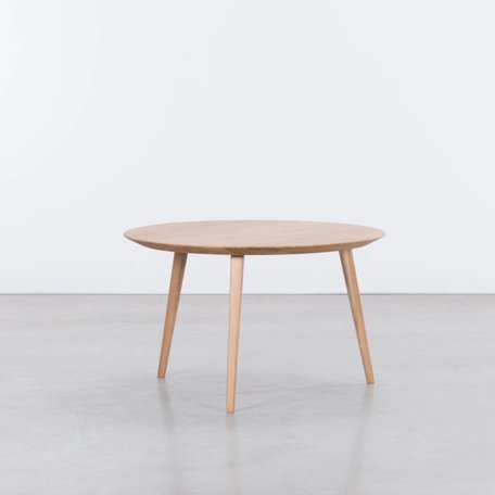 Tomrer Coffee Table Round Oak - 3 Legs