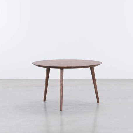 Tomrer Coffee Table Round Walnut - 3 Legs
