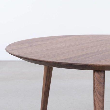 Tomrer Coffee Table Round Walnut - 3 leg