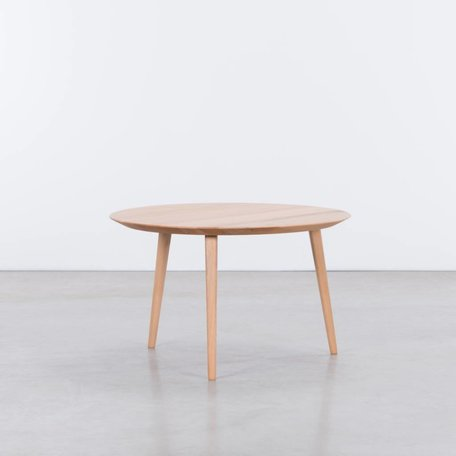 Tomrer Coffee Table Round Beech - 3 Legs