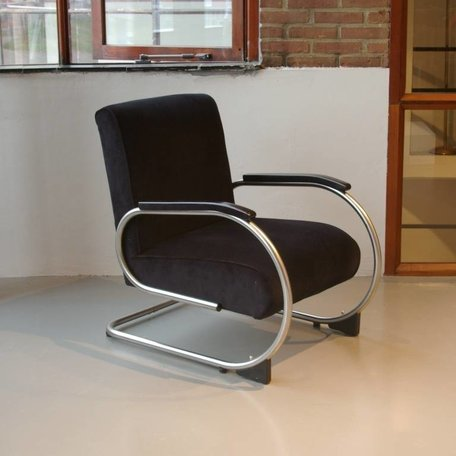 Tubax buisframe fauteuil 1948 matchroom stof naar wens