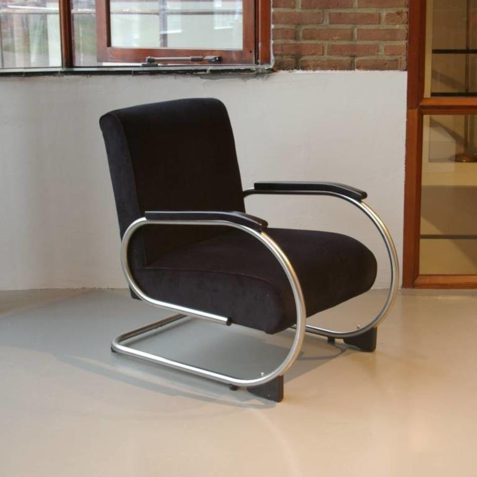 Fonkelnieuw Tubax buisframe fauteuil 1948 matchroom stof naar wens - De OW-41