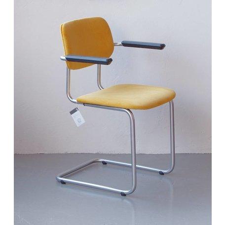 Gispen 1125 stoel ribstof geel