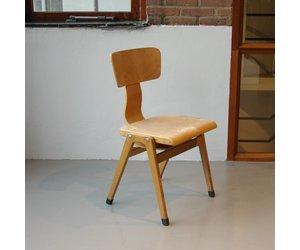 Jaren 50 Stoel : Houten jaren 50 stoelen 4 stuks plywood de machinekamer