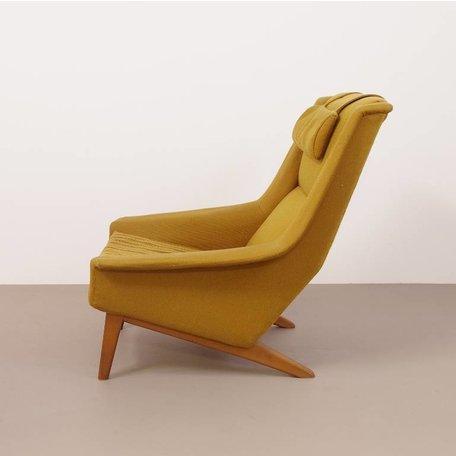 Folke Ohlsson fauteuil model 4410 Fritz Hansen geel