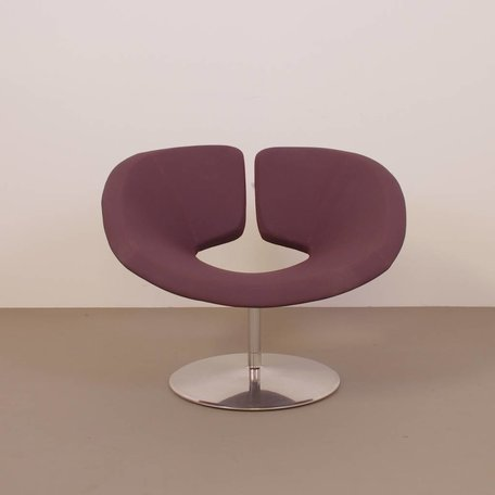 Patrick Norguet Apollo fauteuil Artifort rood/ paars