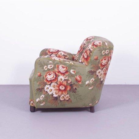 vrolijke scandinavische jaren 40 fauteuil