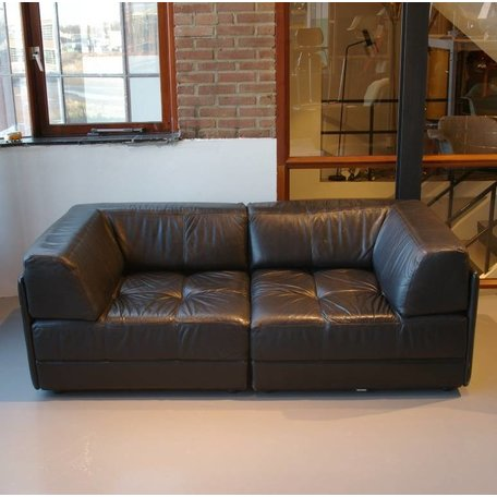 Walter Knoll element sofa zwart leer