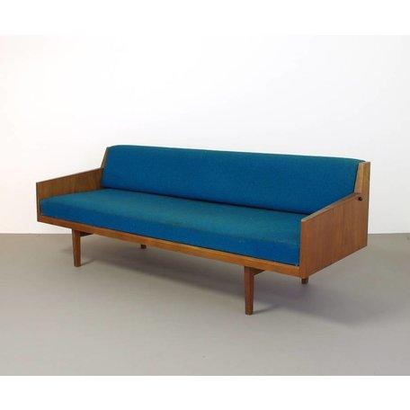 vintage slaapbank teak hout jaren 60 Deens