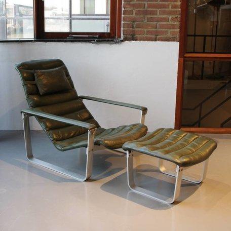 Ilmari Lappalainen Pulkka lounge chair + hocker Asko Finland