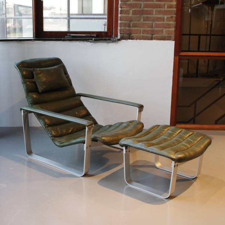 Lounge Stoel Hocker.Ilmari Lappalainen Pulkka Lounge Chair Hocker Asko Finland De