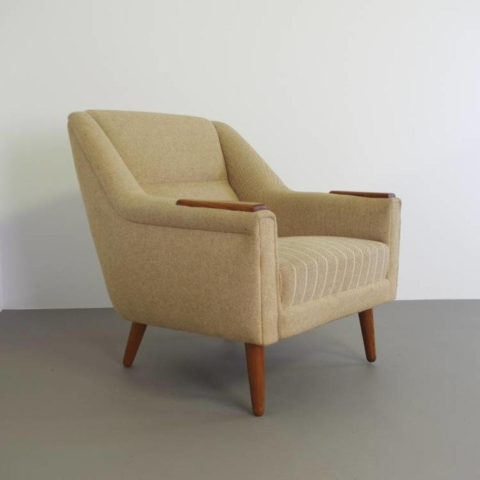 Goede vintage typerende deense jaren 60 fauteuil - De Machinekamer KC-31