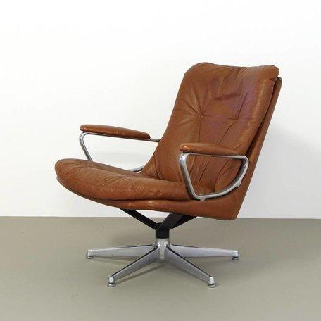 Strassle Lounge Chair leer bruin leer