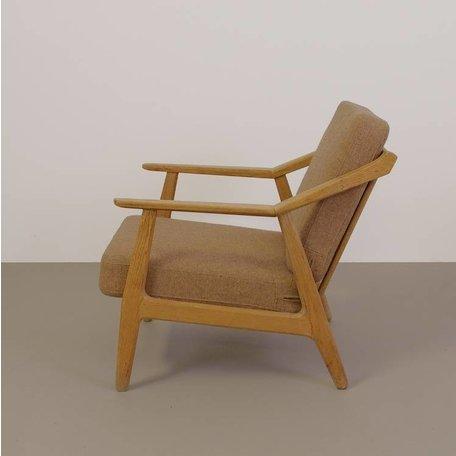 vintage houten fauteuil met bijzonder frame  jaren 50