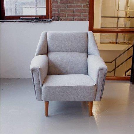 Kurt Ostervig fauteuil Deens jaren 60 gerestaureerd