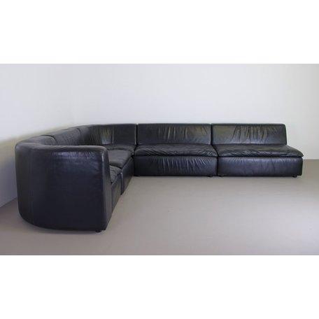 Jan des Bouvrie Model 710 hoekbank zwart leer Gelderland