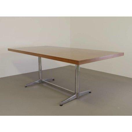 Castelli tafel aluminium frame wit blad 70s