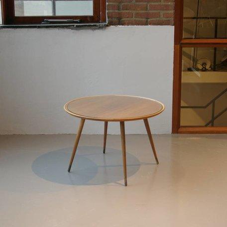 salontafel hout en glas jaren 50