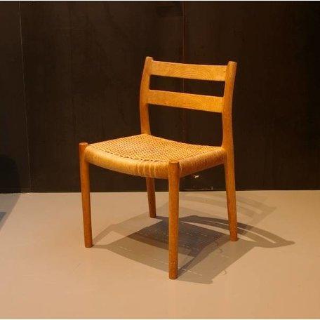 N.O. Möller stoel (4 stuks) hout en papercord Deens