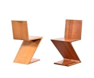 Stoel Gerrit Rietveld : Gerrit rietveld zig zag stoel cassina de machinekamer