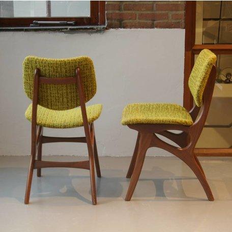Retro stoelen hout (4 stuks) Pynock Wierden