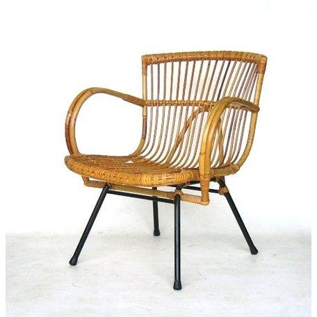 Retro rotan fauteuiltje sixties Rohe noordwolde (2)