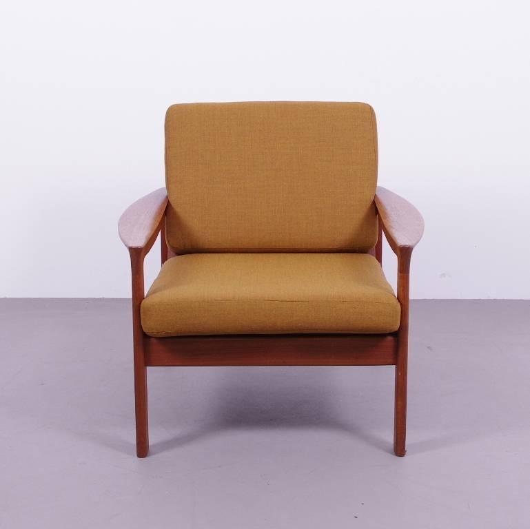 Uitgelezene Deense fauteuil teak houten jaren 60 - okerbruin - De Machinekamer AG-16