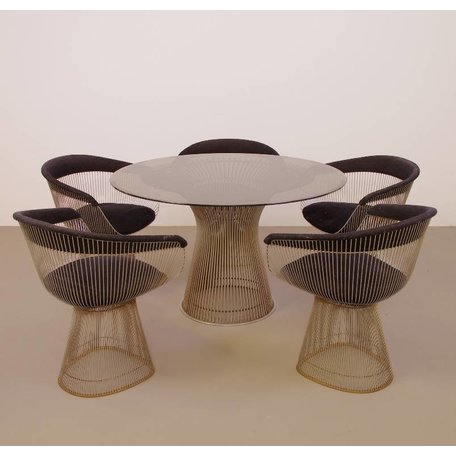 Platner Arm chairs + Dining table