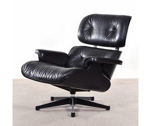 Vitra Eames Kussen : Eames lounge chair zwart hout en leer de machinekamer