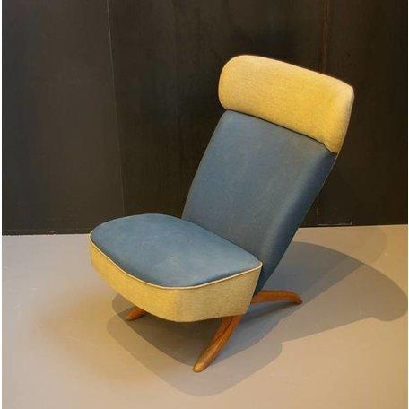 Theo Ruth Congo fauteuil Artifort origineel blauw