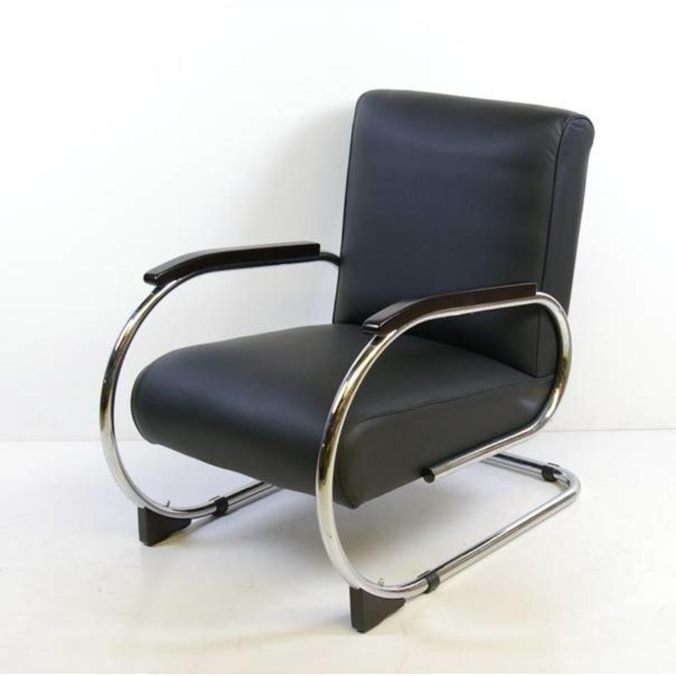 Verbazingwekkend Tubax 1948 R buisframe fauteuil zwart ribstof - De Machinekamer JS-48