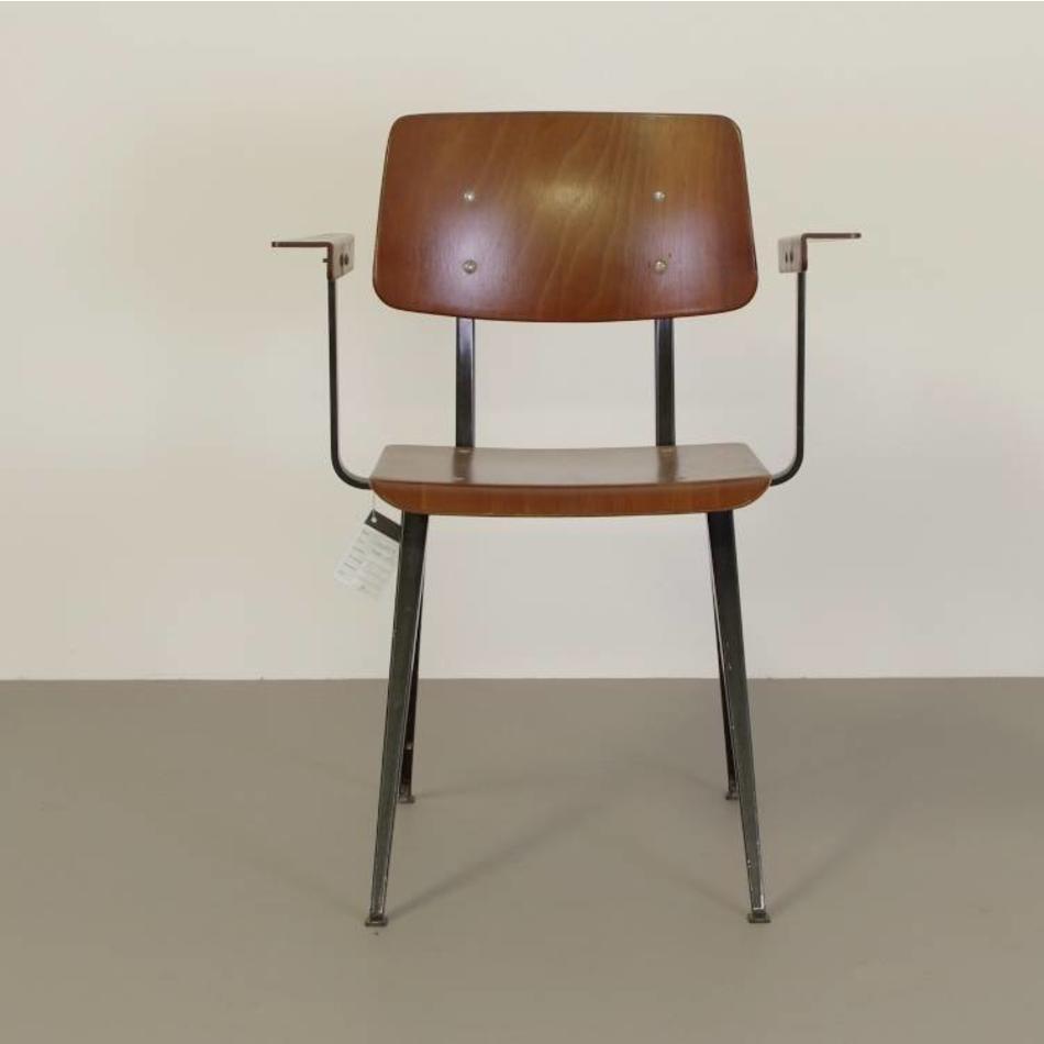 Galvanitas Galvanitas vintage S16 schoolstoel met armleuningen uit de 70s