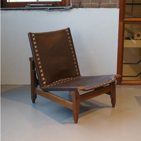 Pair of Leather Chairs by Arte Sano Columbia