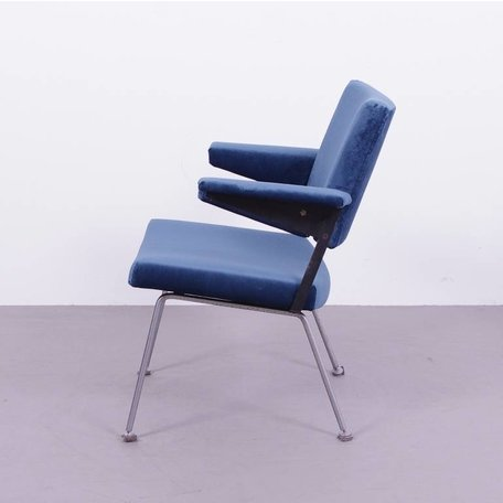 Cordemeijer 1265 stoel - Blauw velours