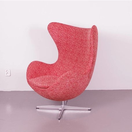 Jacobsen Egg fauteuil - Rood/wit