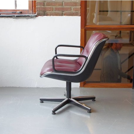 Pollock Executive chair - Donkerrood leer