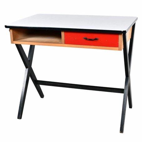 De Vries Bureau van hout - Primaire kleuren 50s