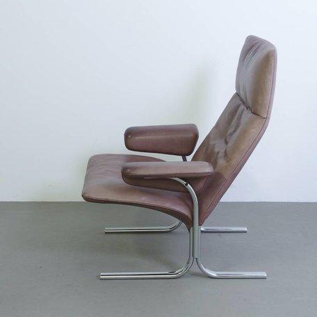 De sede fauteuil met hocker DS2030  - Leer
