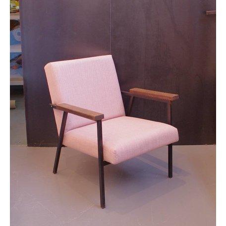 Visser fauteuil - Roze stof