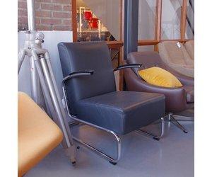 Gispen fauteuil dutch originals zwart leer de machinekamer