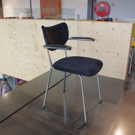 De Wit 3211 stoel - Zwart ribstof
