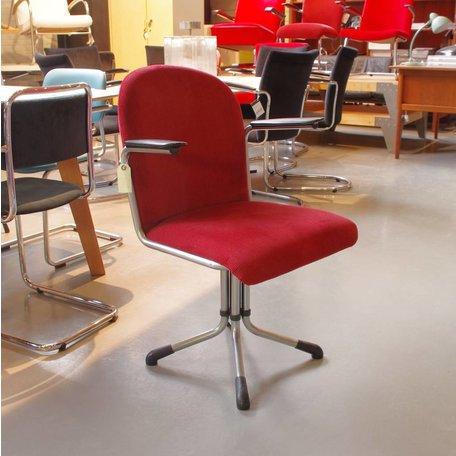 Gispen 356 Bureaustoel ribstof donkerrood