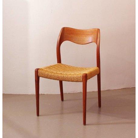 Moller 71 stoel -  Teak en papercord zitting