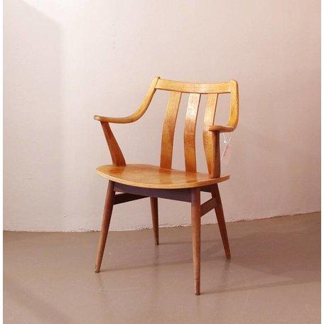 Stoel met gevormde rug en armleuningen - Plywood