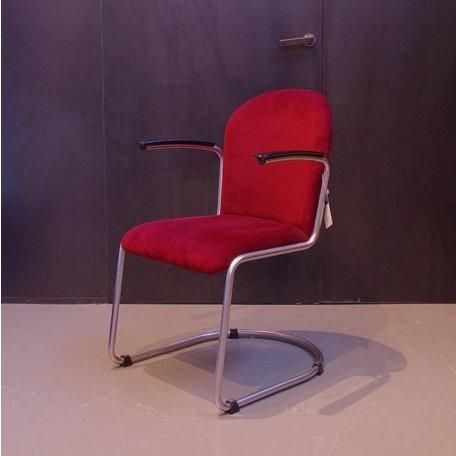 Gispen 413 stoel - Ribstof aubergine