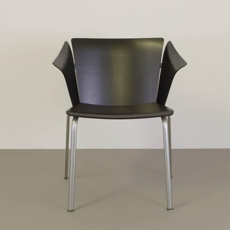Fritz Hansen Design Stoelen.Magistretti Stoel Zwart