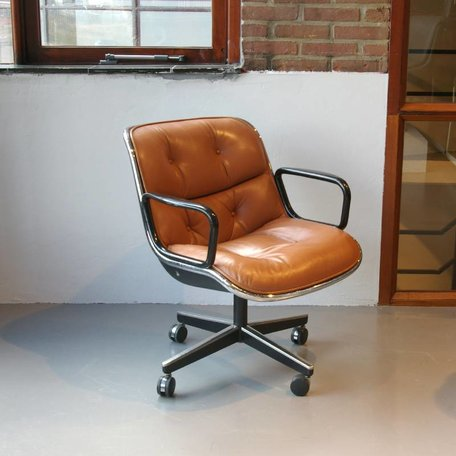 Pollock Executive chair - Cognac Leer