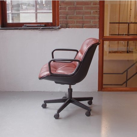 Pollock executive chair - Roodbruin leer