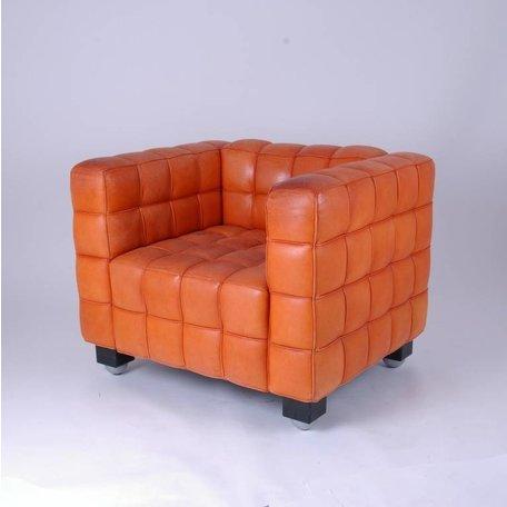 Hoffman Kubus chair - Naturel leer