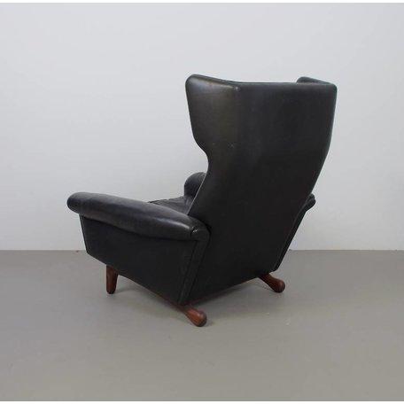 Christiansen Matador Lounge fauteuil - Zwart leer